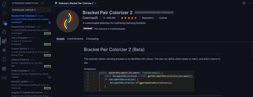 Bracket pair colorizer