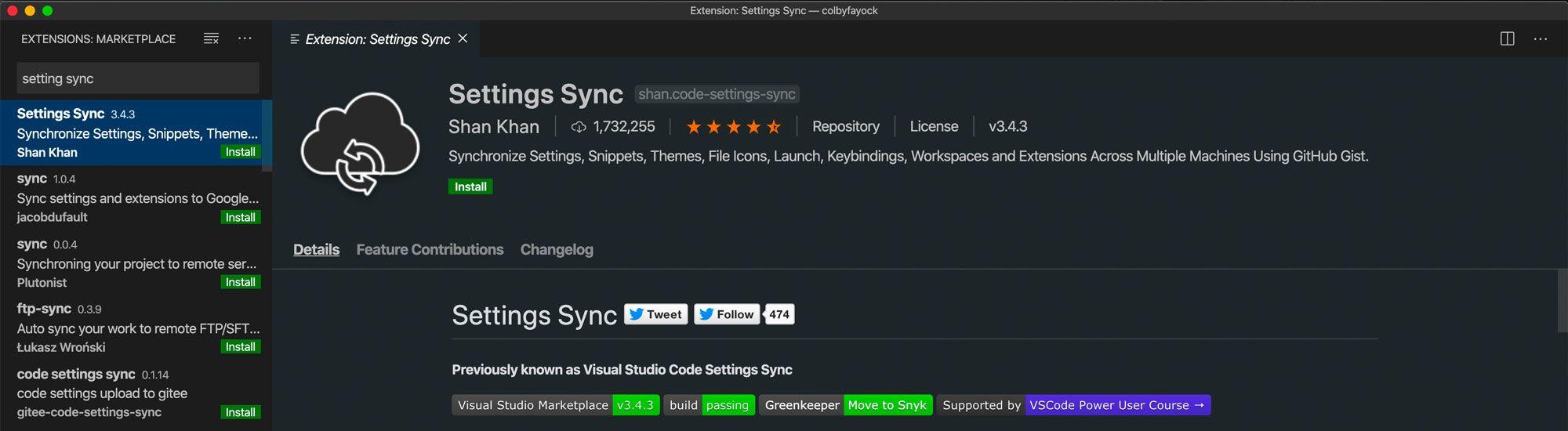 Settings Sync